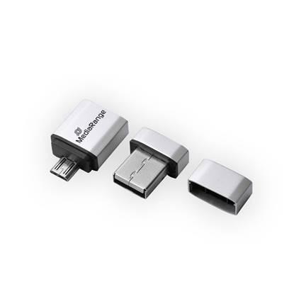 MediaRange USB 2.0 Nano Flash Drive 32GB + micro USB Adaptor (OTG)