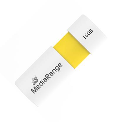 MediaRange USB 2.0 Flash Drive Color Edition 16GB (Yellow)