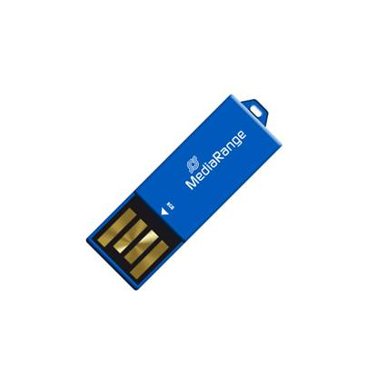 MediaRange USB 2.0 Nano Flash Drive Paper-clip stick 8GB (Blue)