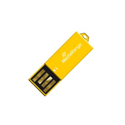 MediaRange USB 2.0 Nano Flash Drive Paper-clip stick 16GB (Yellow)