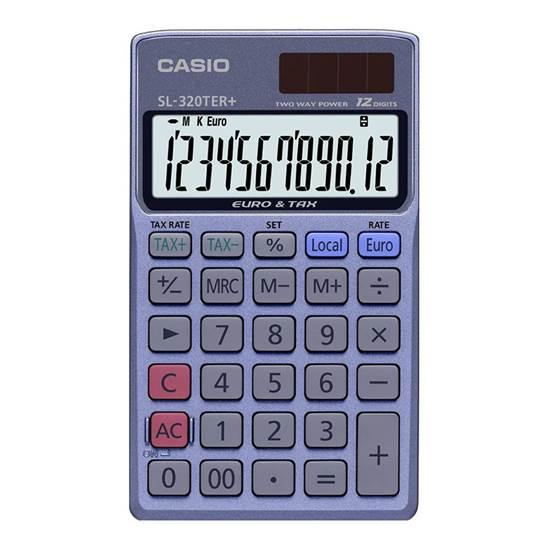 Αριθμομηχανή 12 Ψηφίων Casio (SL-320TER+)
