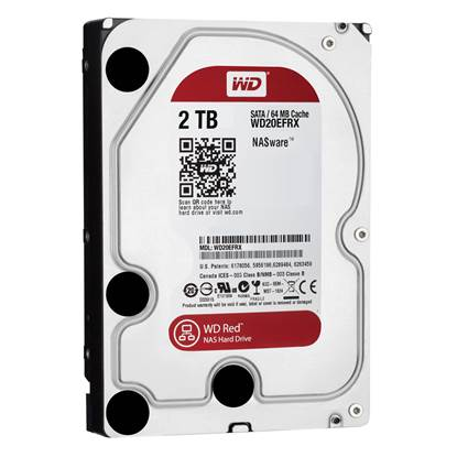 "Western Digital Εσωτερικός Σκληρός Δίσκος 2 TB (Red 3.5"") (WD20EFRX)"
