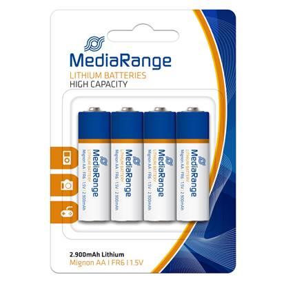Μπαταρία Λιθίου MediaRange AA 1.5V (FR6) (4 Pack)