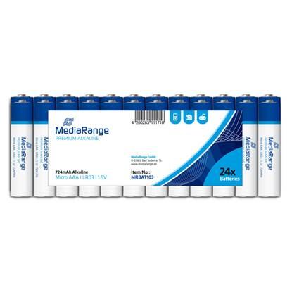 Αλκαλική Μπαταρία MediaRange Premium AAA 1.5V (LR3) (24 Pack)