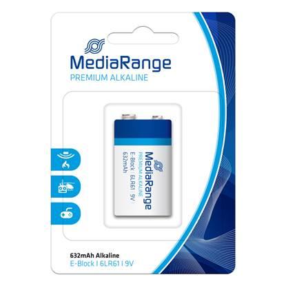 Αλκαλική Μπαταρία MediaRange Premium E-Block 9V (6LR61)