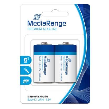 Αλκαλική Μπαταρία MediaRange Premium C 1.5V (LR14) (2 Pack)