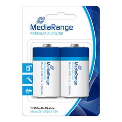 Αλκαλική Μπαταρία MediaRange Premium D 1.5V (LR20) (2 Pack)