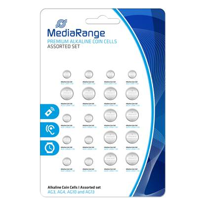 Αλκαλική Μπαταρία MediaRange Premium Coin Cells Assorted Set (20 Pack)