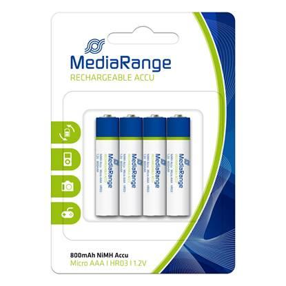 Επαναφορτιζόμενη Μπαταρία MediaRange NiMH Accus AAA 1.2V (HR03) (4 Pack)