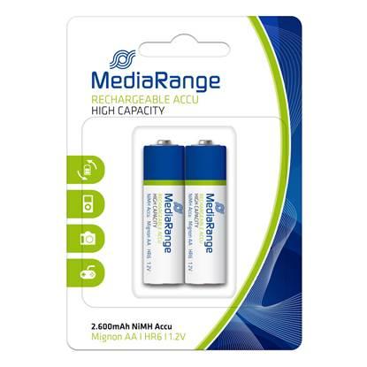 Επαναφορτιζόμενη Μπαταρία MediaRange High Cap. NiMH Accus AA 1.2V (HR6) (2 Pack)