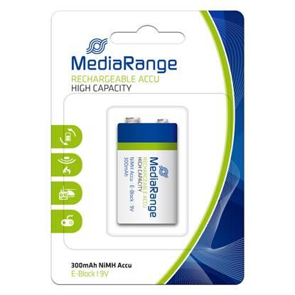 Επαναφορτιζόμενη Μπαταρία MediaRange High Cap. NiMH Accus E-Block HR22 9V (6HR61)