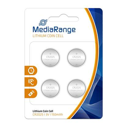 Μπαταρία Λιθίου MediaRange Coin Cells CR2025 3V (4 Pack)