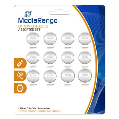 Μπαταρία Λιθίου MediaRange Coin Cells Assorted Set (12 Pack)