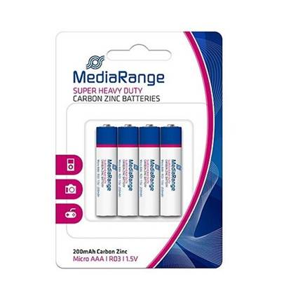Super Heavy Duty Battery MediaRange AAA 1.5V (LR3) (4 Pack)
