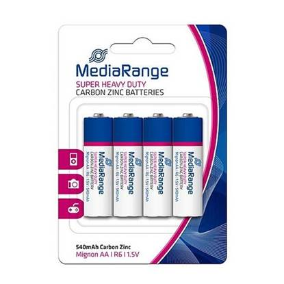 Super Heavy Duty Battery MediaRange AA 1.5V (LR6) (4 Pack)
