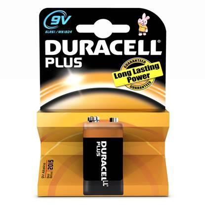 Αλκαλική Μπαταρία Duracell Plus 9V (6LR61)