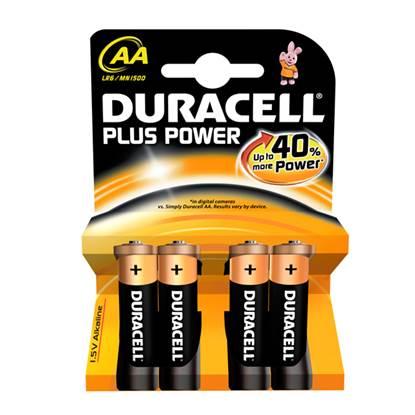 Αλκαλική Μπαταρία Duracell Plus AA 1.5V (LR6) (4 Pack)