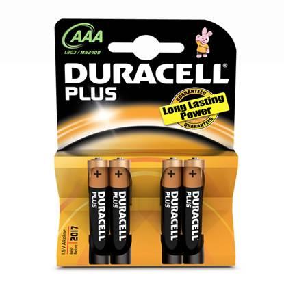 Αλκαλική Μπαταρία Duracell Plus AAA 1.5V (LR3) (4 Pack)