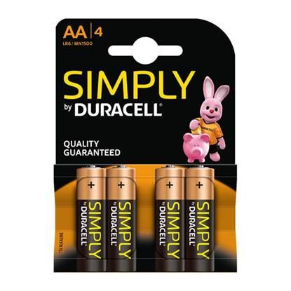 Αλκαλική Μπαταρία Duracell Simply AA 1.5V (LR6) (4Pack)
