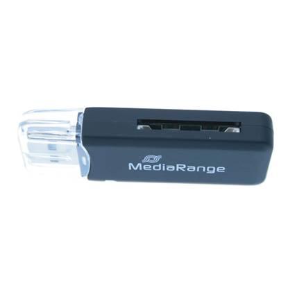MediaRange USB 2.0 Card Reader Stick (Black)