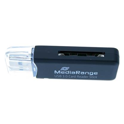 MediaRange USB 3.0 Card Reader Stick (Black)