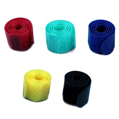 MediaRange Hook and Loop cable ties 16x215mm Assorted Colours (5)