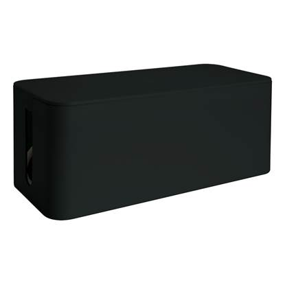 Media Range Cable Tidy Box Medium-Sized 318x126x135 mm Black