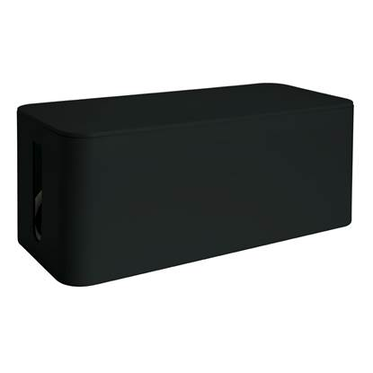 Media Range Cable Tidy Box Big-Sized 405x133x155 mm Black
