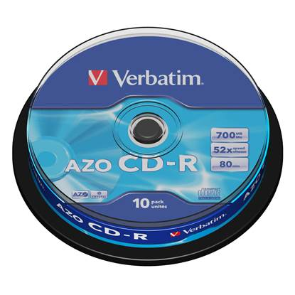 Verbatim CD-R 80' Extra Protection 700MB 52x Cake Box x10 (43437)