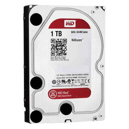 "Western Digital Εσωτερικός Σκληρός Δίσκος 1 TB (Red 3.5"") (WD10EFRX)"