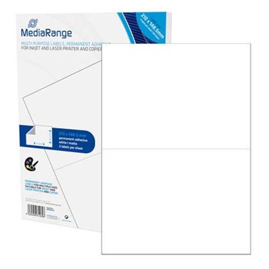 MediaRange Ετικέτες Γενικής Χρήσης 210χ148.5mm. Λευκές (100 Pack)