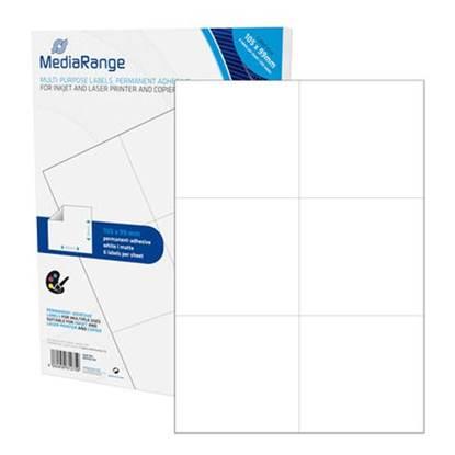 MediaRange Ετικέτες Γενικής Χρήσης 105x99mm. Λευκές (300 Pack)