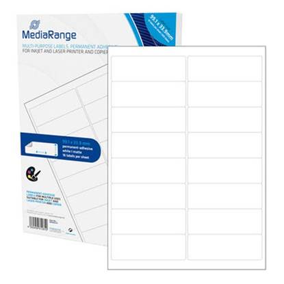 MediaRange Ετικέτες Γενικής Χρήσης 99.1χ33.9mm. Λευκές (800 Pack)