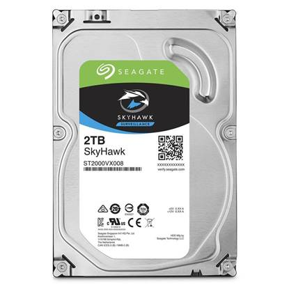 Εσωτερικός Σκληρός Δίσκος SEAGATE 3.5'' 2TB Sata III SkyHawk (ST2000VX008)