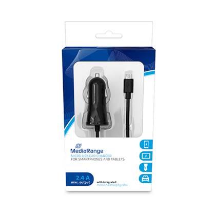 MediaRange Φορτιστής 2.4A για smartphones και συσκευές με Micro USB (Μαύρο)