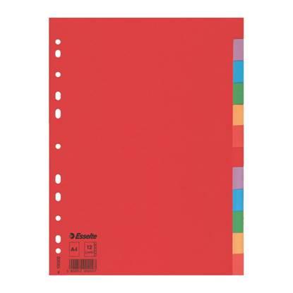 Χάρτινα Διαχωριστικά Esselte A4 12 Θεμάτων (100202)