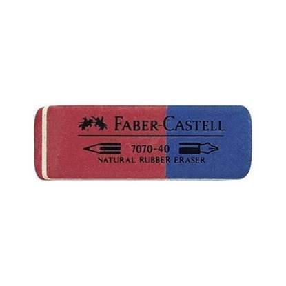 Γόμα FABER-CASTELL Μπλε/Κόκκινη (7070-40)