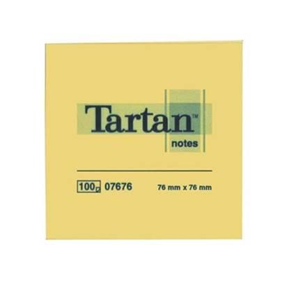 Αυτοκόλλητα Χαρτάκια 3M Tartan 76 x 76 mm (Κίτρινα) (100 Φύλλα) (TART654)