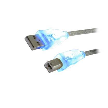 Καλώδιο MediaRange USB 2.0 AM/BM 1.8M with Blue LEDs