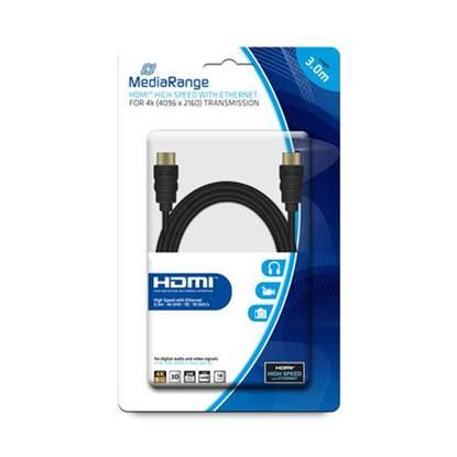 Καλώδιο MediaRange HDMI/HDMI High Speed connection with Ethernet 3.0M Black