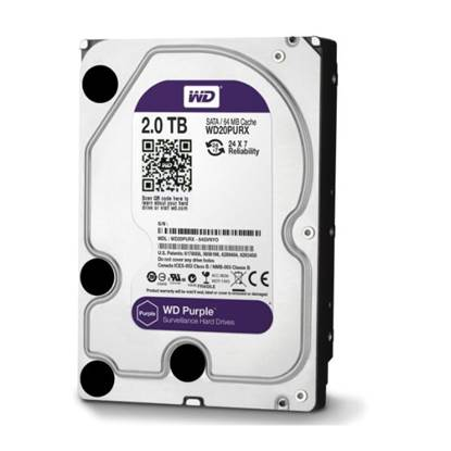"Western Digital Εσωτερικός Σκληρός Δίσκος 2 TB (Purple 3.5"") (WD20PURZ)"