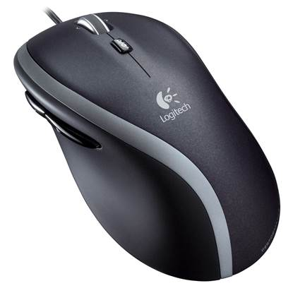 Logitech M500 Laser Mouse (Grey, Wired)