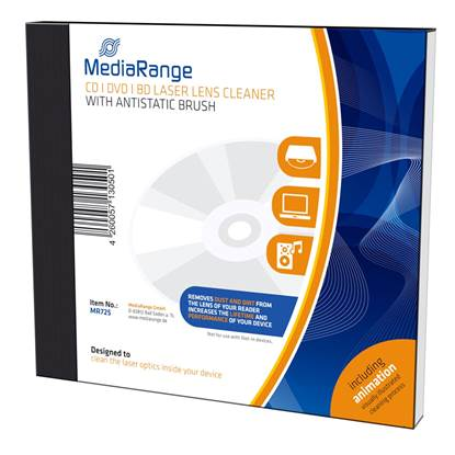MediaRange CD/DVD/BD Laser Lens Cleaner With antistatic brush