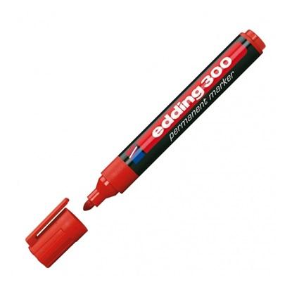 Μαρκαδόρος Ανεξίτηλος EDDING 300 1.5 - 3 mm (Κόκκινο) (3623002)