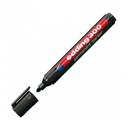 Μαρκαδόρος Ανεξίτηλος EDDING 300 1.5 - 3 mm (Μαύρο) (3623001)