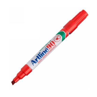 Μαρκαδόρος Ανεξίτηλος ARTLINE 90  Μύτη Πλακέ 1.5 mm (Kόκκινο)