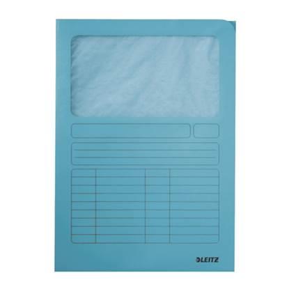 Φάκελος Χάρτινος LEITZ με Παράθυρο 3950 A4 (Mπλε) (39500030)