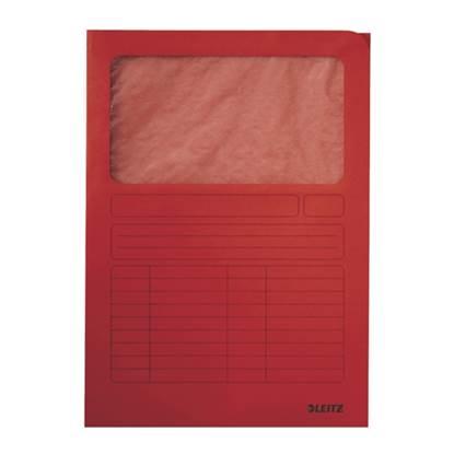Φάκελος Χάρτινος LEITZ με Παράθυρο 3950 A4 (Κόκκινο) (39500025)