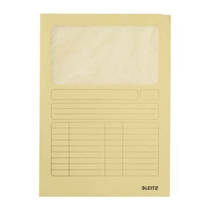 Φάκελος Χάρτινος LEITZ με Παράθυρο 3950 A4 (Κίτρινο) (39500015)