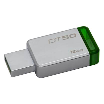 Kingston Data Traveler 50 16GB USB 3.0 Flash Drive (Metal/Green) (DT50/16GB)